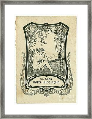 a Hans Hugo Rohr, Framed Print by MotionAge Designs