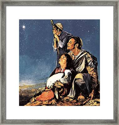 A Happy Christmas Framed Print by JM Watt
