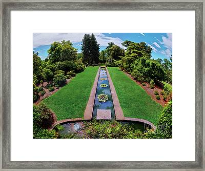 Framed Print featuring the photograph A Happy Garden by Mark Miller