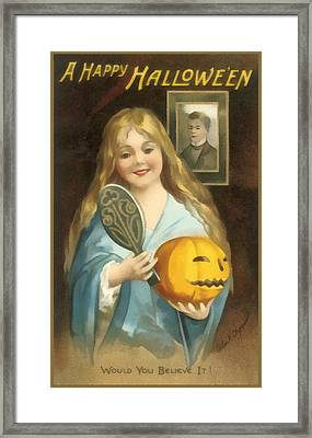 A Happy Halloween Framed Print by Uknown