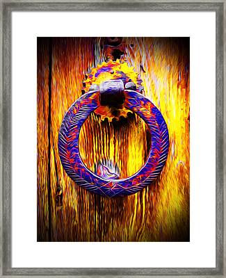 A Happy Welcome Framed Print by Georgiana Romanovna