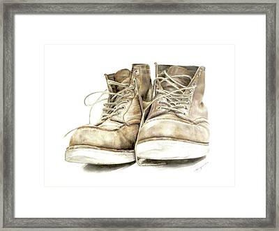A Hard Day's Work Framed Print by Lauren Bigelow