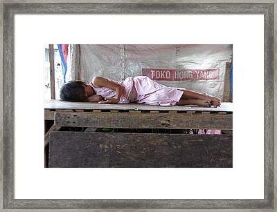 A Hard Life 2 Framed Print by Jez C Self