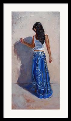 Long Skirt Framed Prints