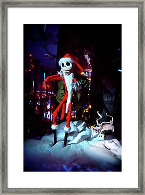 A Haunted Christmas Framed Print