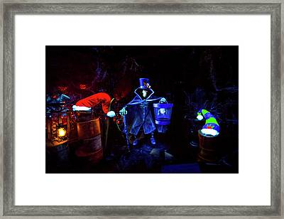 A Haunted Mansion Nightmare Framed Print by Mark Andrew Thomas