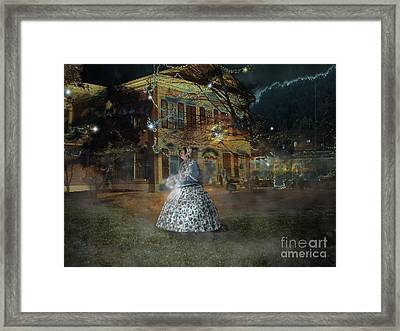 A Haunted Story In Dahlonega Framed Print