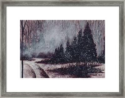A Hazy Shade Of Winter  Framed Print