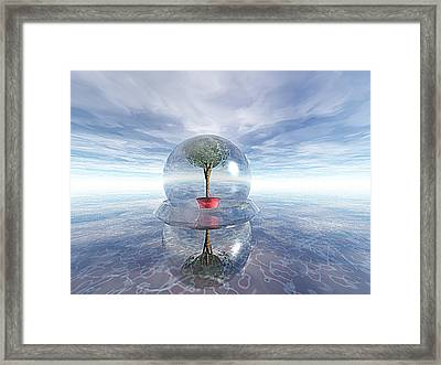 A Healing Environment Framed Print by Oscar Basurto Carbonell