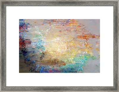 Framed Print featuring the mixed media A Heart So Big - Custom Version 3 - Abstract Art by Jaison Cianelli