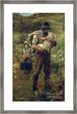 A Heavy Burden Framed Print