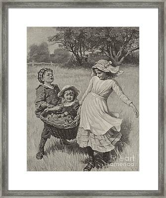 A Heavy Load Framed Print by Frederick Morgan