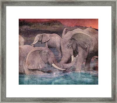 A Helping Hand Framed Print by Betsy Knapp