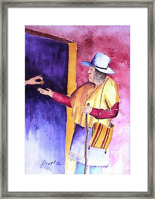 A Helping Hand Framed Print by Buster Dight
