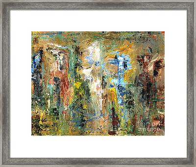 A Herd Of Five Framed Print by Frances Marino