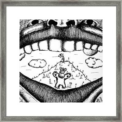 A Hidden World Framed Print