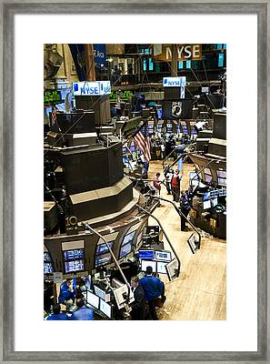 A High Angle View Of The New York Stock Framed Print by Justin Guariglia
