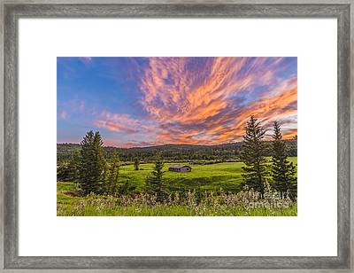 A High Dynamic Range Photo Of A Sunset Framed Print by Alan Dyer