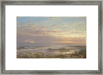A High Tide At Atlantic City Framed Print