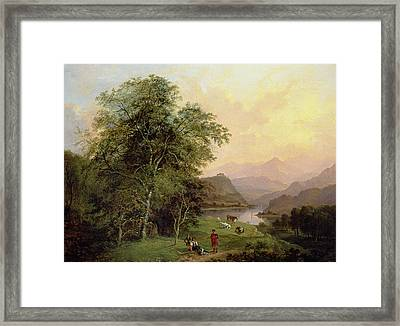 A Highland Lochside, 1847 Framed Print
