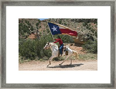 A Highlight Of The Texas Outdoor Musical Drama As Staged In The Pioneer Amphitheater Framed Print by Carol M Highsmith