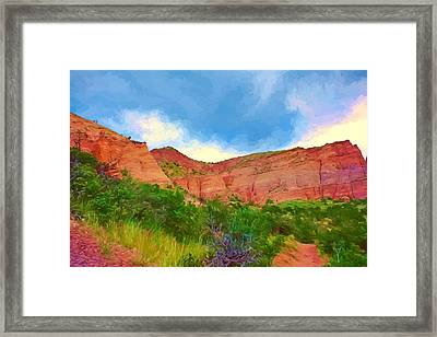 A Hike In The Valley Framed Print