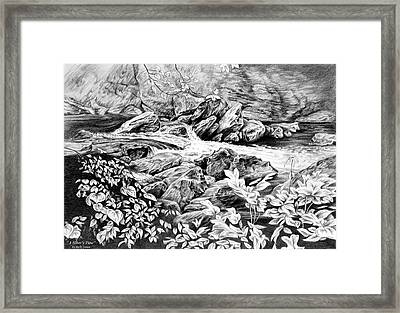 A Hiker's View - Landscape Print Framed Print by Kelli Swan