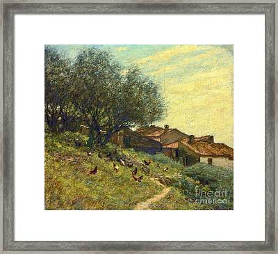 A Hillside Village In Provence Framed Print