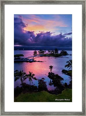 A Hilo View Framed Print by Christopher Holmes