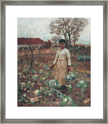 A Hind's Daughter Framed Print by James Guthrie