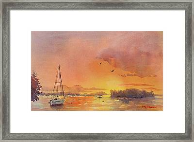 A Hingham Sunset Framed Print