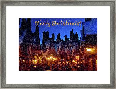 A Hogsmeade Christmas Framed Print