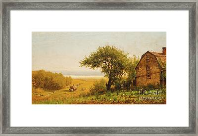 A Home By The Seaside Framed Print