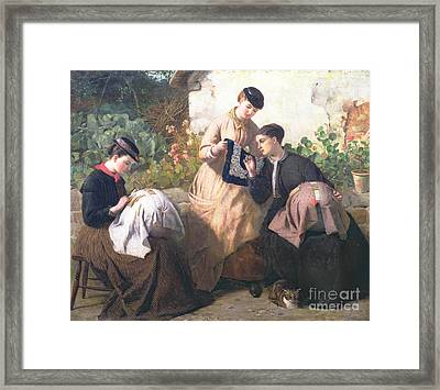A Honiton Lace Manufactory Framed Print by Frederick Richard Pickersgill