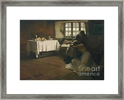 A Hopeless Dawn Framed Print by Frank Bramley