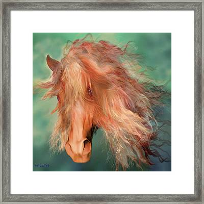 Framed Print featuring the painting A Horse Called Copper by Valerie Anne Kelly