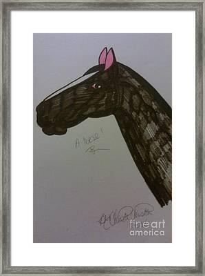 A Horse Framed Print