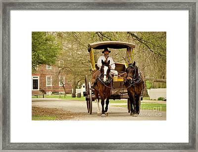 A Horse-drawn Carriage Framed Print by Rachel Morrison