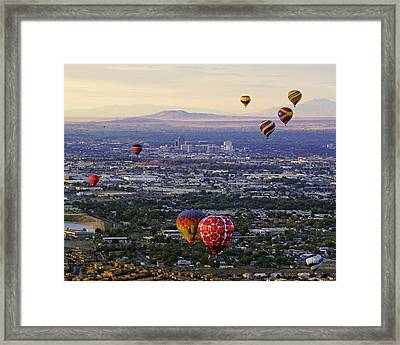 A Hot Air Ride To Albuquerque Cropped Framed Print by Daniel Woodrum