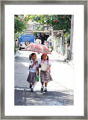A Hot School Day Framed Print by Jez C Self