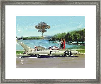 A Hot Wind Is Coming Framed Print