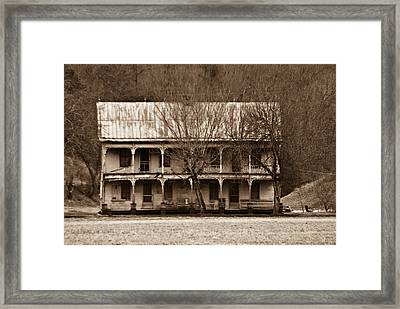 A House From The Past Framed Print by Douglas Barnett