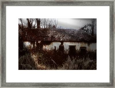 Framed Print featuring the photograph A House In The Woods by Mimulux patricia no No