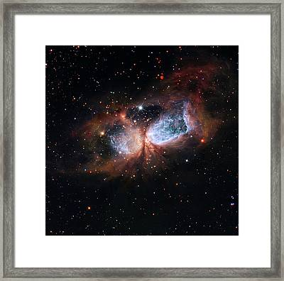 Framed Print featuring the photograph A Composite Image Of The Swan by Nasa