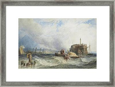 A Hulk With Other Shipping In The Medway Framed Print by MotionAge Designs