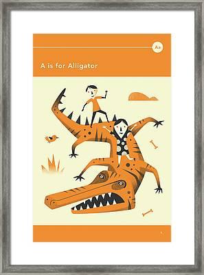 A Is For Alligator Framed Print