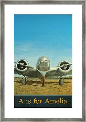 A Is For Amelia Framed Print