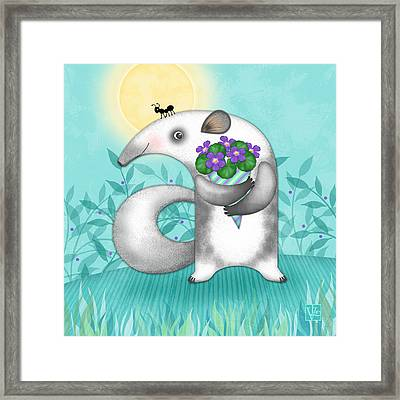 A Is For Anteater Framed Print