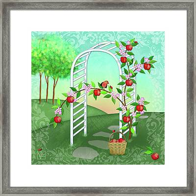 A Is For Arbor And Apples Framed Print by Valerie Drake Lesiak