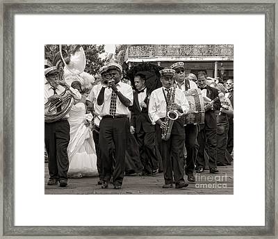 A Jazz Wedding In New Orleans Framed Print